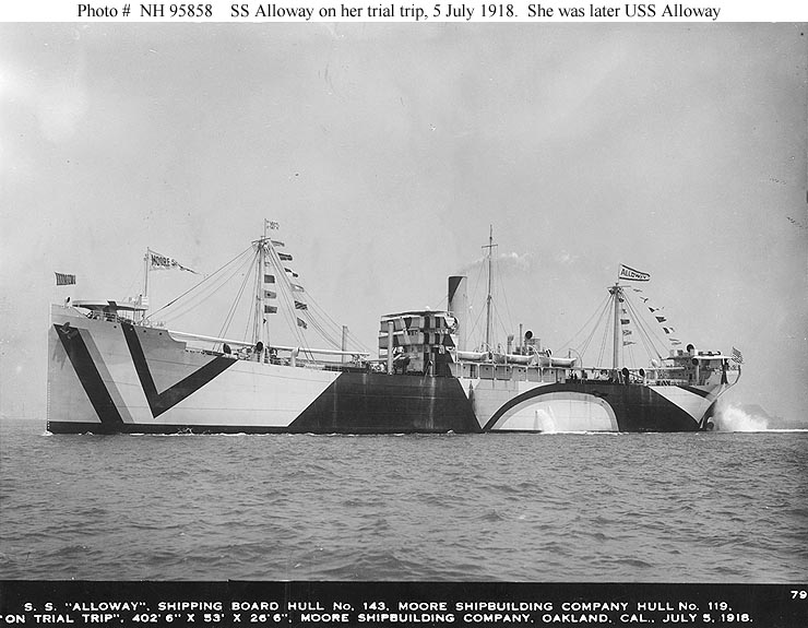 SS Alloway Dazzle Camouflage