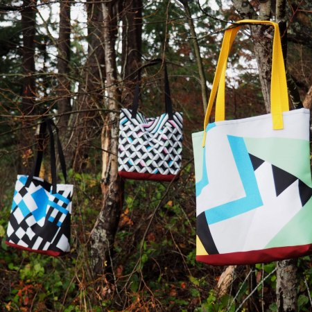 Limited Edition Dazzle Camouflage bag by Evan Wagoner-Lynch