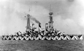 USS Nebraska in Dazzle Camouflage